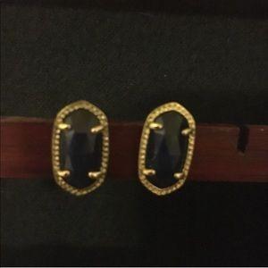 Kendra Scott Ellie Earrings in Navy